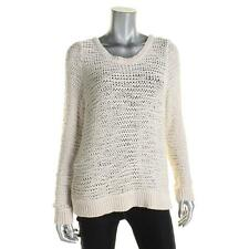 Eileen Fisher 8774 Womens Ivory Knit Long Sleeves Pullover Sweater Top XL BHFO