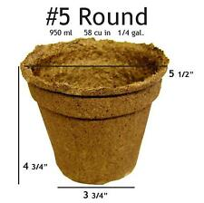 "Biodegradable CowPots 5"" Inch Round Loose (20 Pots /Case)"
