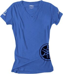 FACTORY EFFEX-APPAREL 17-87242 Yamaha Women's Tee Md Royal Blue