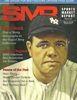 SMR Sports Market Report PSA/DNA Guide Magazine BABY RUTH MARCH 2018 NEW