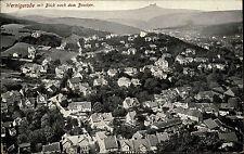 Wernigerode Sachsen Anhalt s/w AK 1931 gelaufen Totale mit Blick auf den Brocken