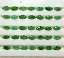 10.20 Cts Natural Emerald Marquise Cut 5x2.50 mm Green Shade Loose Gemstones