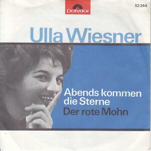 7 45 Ulla Wiesner - Abends kommen die Sterne RARE Poyldor Schlager Single NM