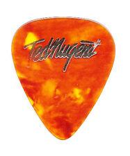 Ted Nugent Signature Brown Faux Tortoise Guitar Pick - 1977 Tour