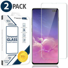 2-Pack Tempered Glass Screen Protector Full Cover For Samsung Galaxy S10+ Plus