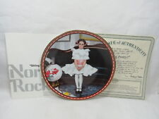 Edwin Knowles Norman Rockwell Collector Plate Sitting Pretty? w/ Box & Coa S2 2