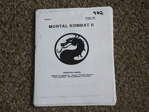 Mortal Kombat II 2 Arcade Operations Manual Midway Con Op Video Game Schematics