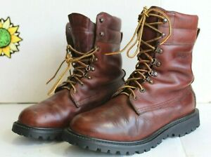 Vintage Cabela's Men's Hunting Boots1990's Brown Leather. USA Made Size 7.5 D