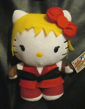 "HELLO KITTY KEN Stuffed Plush 9-10"" Street Fighter (FREE S/H in USA)"