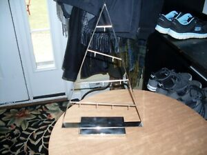 Crate and Barrel Silver Ornament Tree A-frame Christmas Holiday Decoration