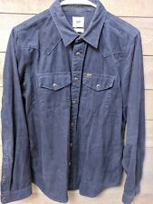 Lee Men's Regular Fit Sz S Corduroy Western Style L/S Pearl Snap Shirt Cords