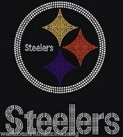 Steelers Football Rhinestone Iron on Transfer                 L5L3