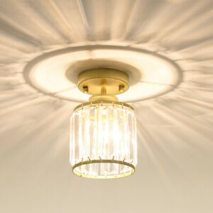 Nordic Gold Crystal Ceiling Lights Led Iron Ceiling Fixtures for Bedroom Lamp
