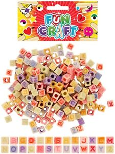 Craft Alphabet Beads - Each pack contains Coloured Beads