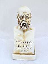 Socrates Ancient Greek philosopher sculpture small bust artifact