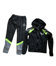 Victoria's Secret PINK Black Grey Yellow Gym Sport Tracksuit Size XS Small 6 8