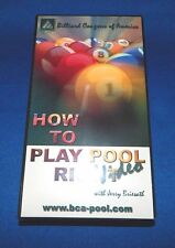 How To Play Pool Right VHS Video Tape From BCA - New Unused