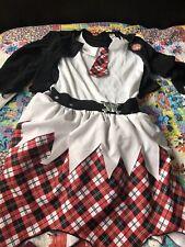 Halloween Dress Up Age 13-14 Zombie School Girl