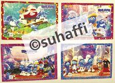 4er Set Puzzles Schlümpfe/Smurfs mit allen 4 Bpz