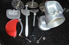 Minna Universal Küchenmaschine mechanisch komplett 5 Scheiben Vintage 80er Jahre