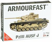 ARMOURFAST 99016 WWII Panzer III Ausf J Tank 2 PzIII Model Kit AIRFIX FREE SHIP