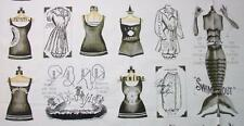 She Sews Sea Shells Grey Mermaid Swim Suit Quilting Treasures Fabric Yard 25801
