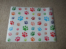 FANCY PAWS PLACEMAT - DOG OR CAT FOOT PRINTS FEEDING WATERING