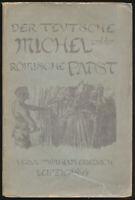Oskar Panizza: Der teutsche Michel und der römische Papst (1894). Erstausgabe.