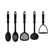 Premier Set of 5 Kitchen Tool Set Cooking Slotted Spatula Ladle Masher Spoon