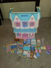 Vintage Fisher Price 1993 Loving Family Dream Doll House With 31 Acc. & Figures