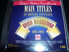 Ennio Morricone Main Titles 1965 – 1995 Classic Italian Soundtrack 2 CD - New