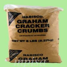 CRACKER CRUMBS 1 Bag x 5 lbs NABISCO GRAHAM CRACKER CRUMBS FOR BAKING PIE CRUST