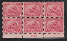 549 VF Plateblock never hinged nice color scv $ 135 ! see pic !