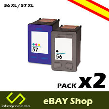 2 Cartuchos Compatibles 56 XL Negro y 57 XL Color para HP PSC 1315