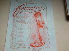 """ANCIENNE REVUE """" FEMINA """" N° 9   ANNEE 1901"""