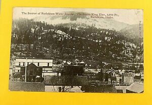 """RATHDRUM, ID, """"The Source of Rathdrum Water Supply"""" ANTIQUE 1907-15 PC 612"""