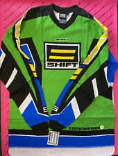 Shift Motocross Super Evo Vintage Jersey Top Large Green Blue Jeff Emig Nos