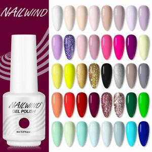 NAILWIND 8ml Soak Off Bright Color LED/UV Nail Art Gel Polish Manicure Varnish