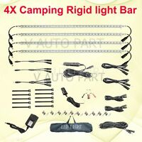 4X 50cm Bar12V 240V Rigid Linkable LED Camping Kit bag Camper Boat Strip Light