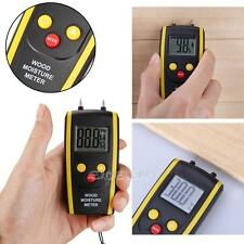 Professional Digital LCD Moisture Temperature Meter Humidity Wood Damp Tester