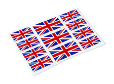 UNION JACK STICKER SHEET Classic Retro Car Motorcycle Decals Stickers