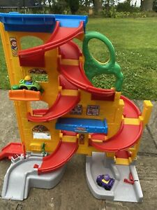 Fisher Price Garage With Two Cars