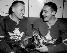 Jonny Bower, Frank Mahovlich Toronto Maple Leafs 8x10 Photo