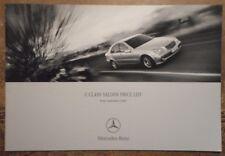 MERCEDES BENZ C CLASS SALOON orig 2000 UK Mkt New Car Prices & Options Brochure