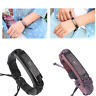 Adjustable Leather Metal Christian Cross Bible Men Women Religious Wrap Bracelet