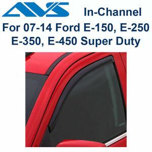 AVS 2Pc In-Channel 192141 Window Vent Visor For 2007-2010 Ford E150 E250 E350