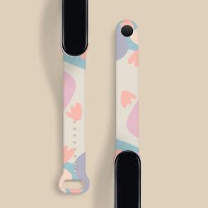 For Xiaomi Mi Band 3/4/5/6 Watch Strap Smart Soft Wristband TPU Print Bracelet