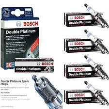 4 Bosch Double Platinum Spark Plugs For 1996-2000 DODGE CARAVAN L4-2.4L