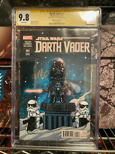 Darth Vader #1 Marvel Comics SS Skottie Young Variant Cover White Pages CGC 9.8