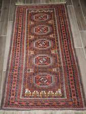 3x6ft. Antique Afghan Balouch Wool Runner